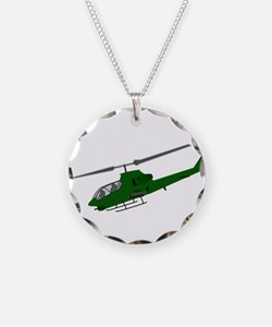 Attack Helicopter Necklace