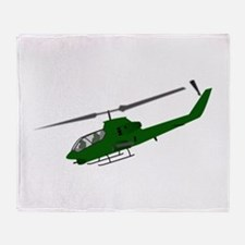 Attack Helicopter Throw Blanket
