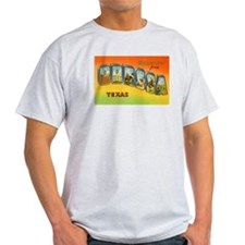 Odessa Texas Greetings (Front) Ash Grey T-Shirt