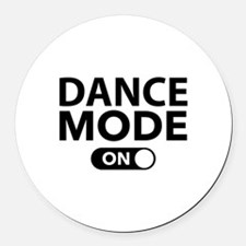 Dance Mode On Round Car Magnet