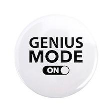 "Genius Mode On 3.5"" Button"