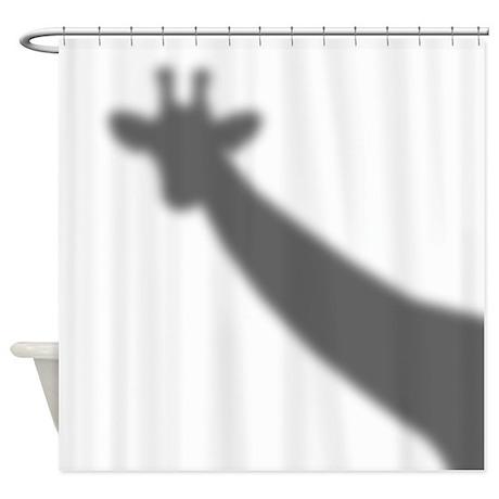 High Quality Giraffe Shadow Shower Curtain