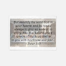 1 Peter 3:15 5'x7'Area Rug