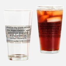 Luke 1:26 Drinking Glass