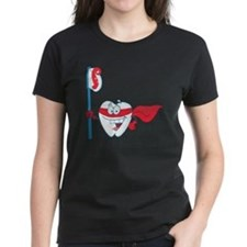 superhero tooth with toothbru Tee