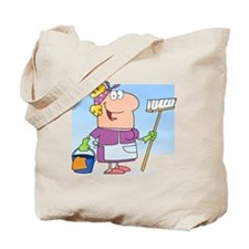 cartoon maid cleaning lady housekeeper Tote Bag