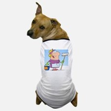 cartoon maid cleaning lady housekeeper Dog T-Shirt