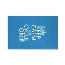 Keep Calm and Cycle On Rectangle Magnet