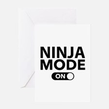 Ninja Mode On Greeting Card