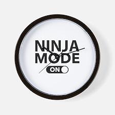 Ninja Mode On Wall Clock