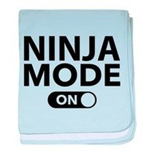 Ninja Mode On baby blanket
