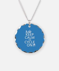Keep Calm and Cycle On Necklace