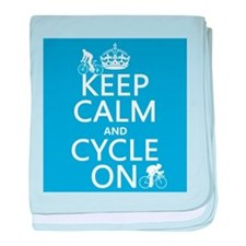 Keep Calm and Cycle On baby blanket