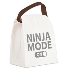 Ninja Mode On Canvas Lunch Bag