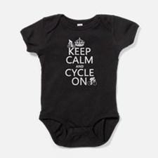 Keep Calm and Cycle On Baby Bodysuit