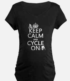 Keep Calm and Cycle On Maternity T-Shirt