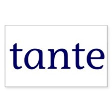 Tante Rectangle Decal