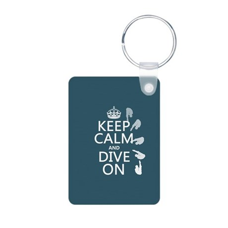 Keep Calm and Dive On Keychains
