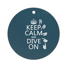 Keep Calm and Dive On Ornament (Round)