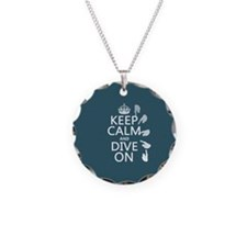 Keep Calm and Dive On Necklace