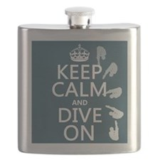 Keep Calm and Dive On Flask