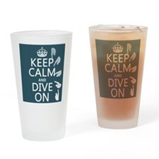 Keep Calm and Dive On Drinking Glass