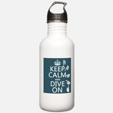 Keep Calm and Dive On Sports Water Bottle