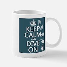 Keep Calm and Dive On Small Mug
