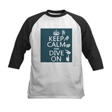 Keep Calm and Dive On Baseball Jersey