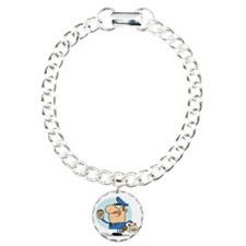 funny cop with donuts ca Bracelet