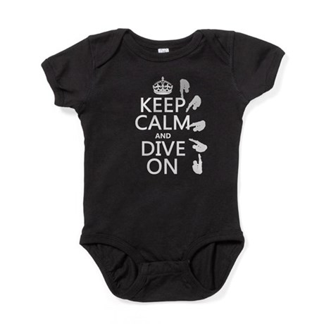 Keep Calm and Dive On Baby Bodysuit