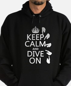 Keep Calm and Dive On Hoody