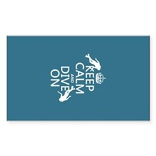 Keep Calm and Dive on (scuba) Decal