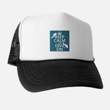 Keep Calm and Dive on (scuba) Hat