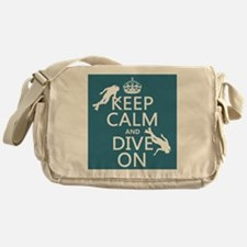 Keep Calm and Dive on (scuba) Messenger Bag