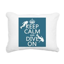 Keep Calm and Dive on (scuba) Rectangular Canvas P