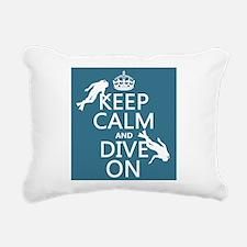 Keep Calm and Dive on (scuba) Rectangular Canvas P