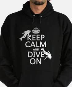 Keep Calm and Dive on (scuba) Hoody