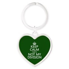 Keep Calm That's Not My Division Keychains