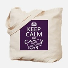 Keep Calm and Deny Everything Tote Bag