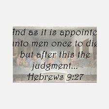 Hebrews 9:27 Rectangle Magnet