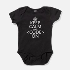 Keep Calm and Code On Baby Bodysuit