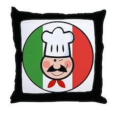 italian chef design Throw Pillow