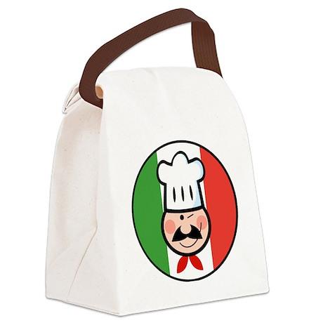 italian chef design Canvas Lunch Bag