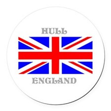 Hull England Round Car Magnet