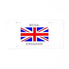 Hull England Aluminum License Plate