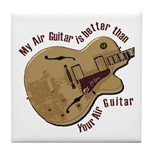 The Air Guitar Tile Coaster