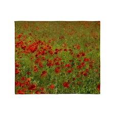 Poppy Landscape Throw Blanket