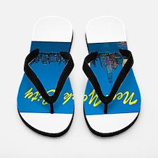 New York City Skyline at night Flip Flops