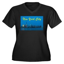 New York City Skyline at night Plus Size T-Shirt
